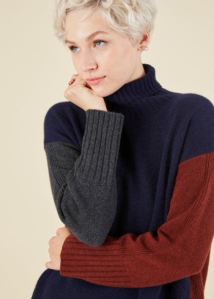 Colorblock Knit Pullover