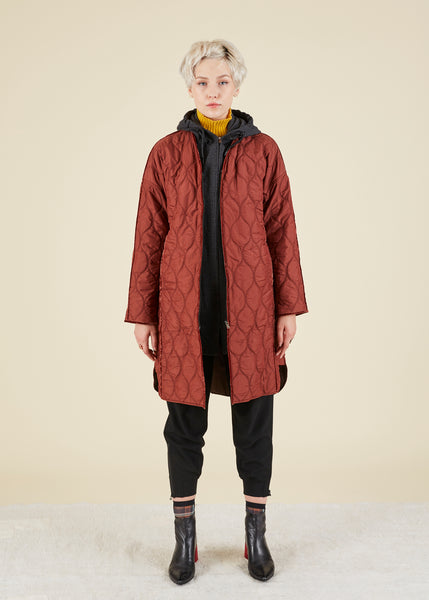 Quilted Hoodie Coat