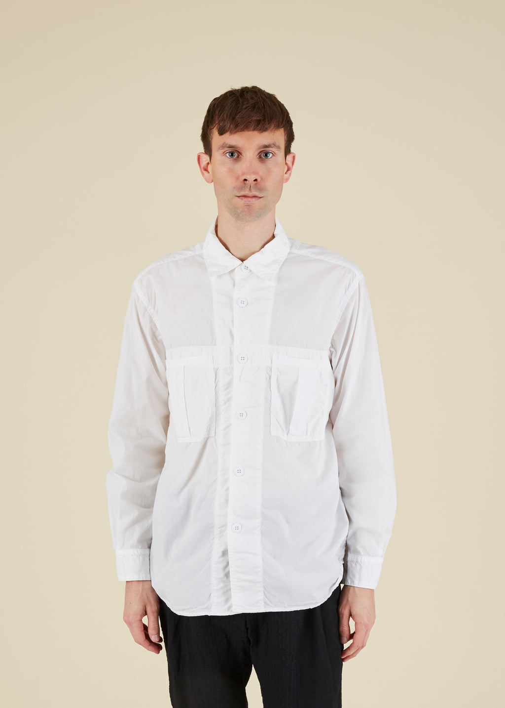 Sage de Cret Pleated Pocket Shirt