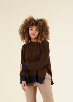 Drop-Shoulder Cropped Sweater