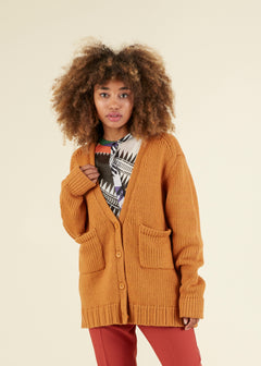 Boyfriend Smiley Knit Cardigan