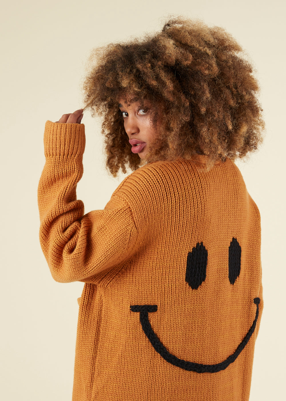 JoosTricot Boyfriend Smiley Knit Cardigan