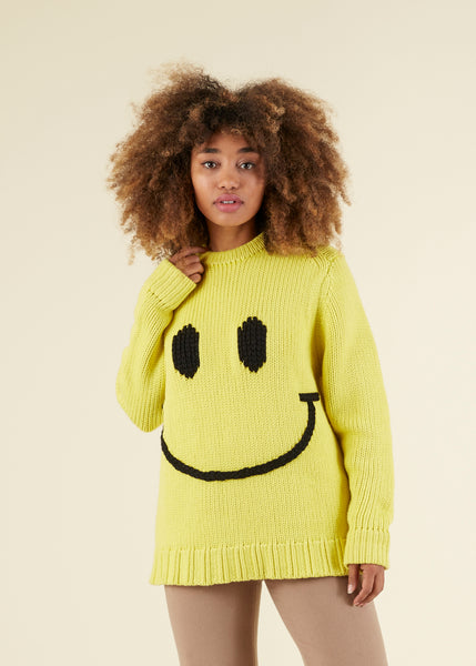 Boyfriend Smiley Crewneck Sweater