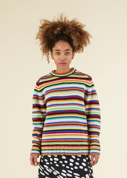 Boyfriend Knit Crewneck Sweater