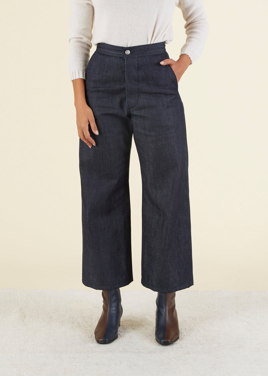 Selvage Indigo Sailor Pant
