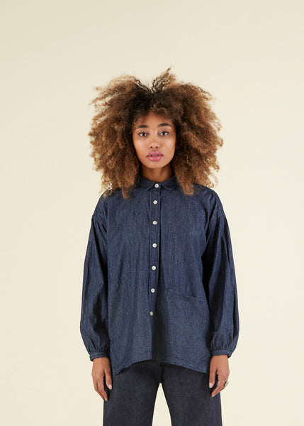 Long Sleeve Smock Shirt