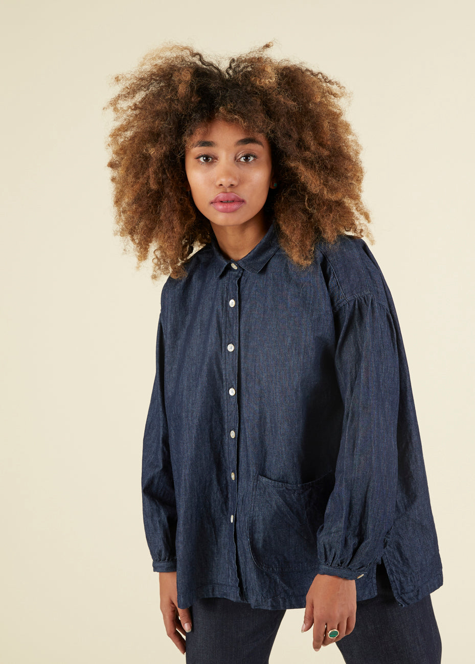 Uqnatu Long Sleeve Smock Shirt