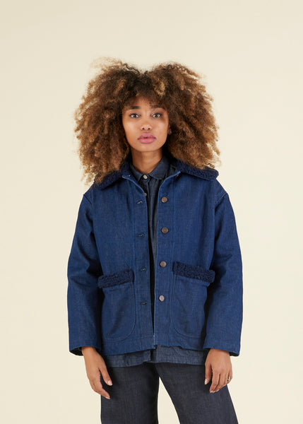 Sherpa Lined Button Front Jacket