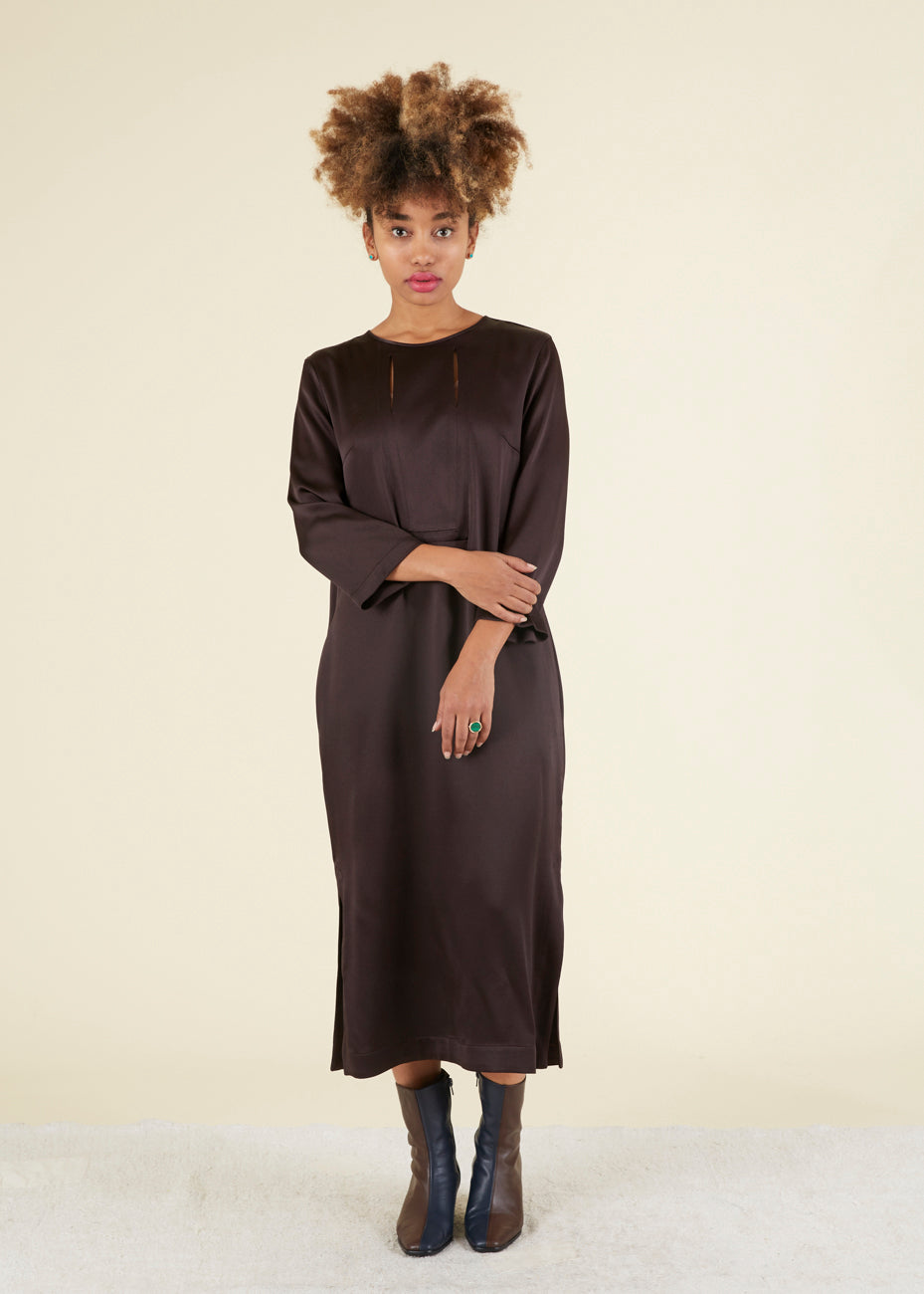 Odeeh Slit Top Shift Dress