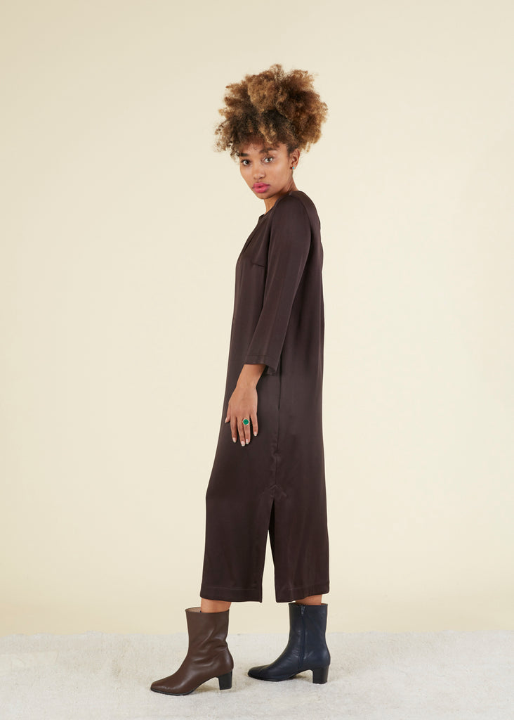 Slit Top Shift Dress