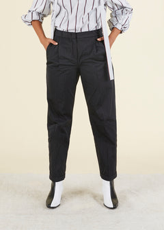 Pleated Pinstripe Trouser