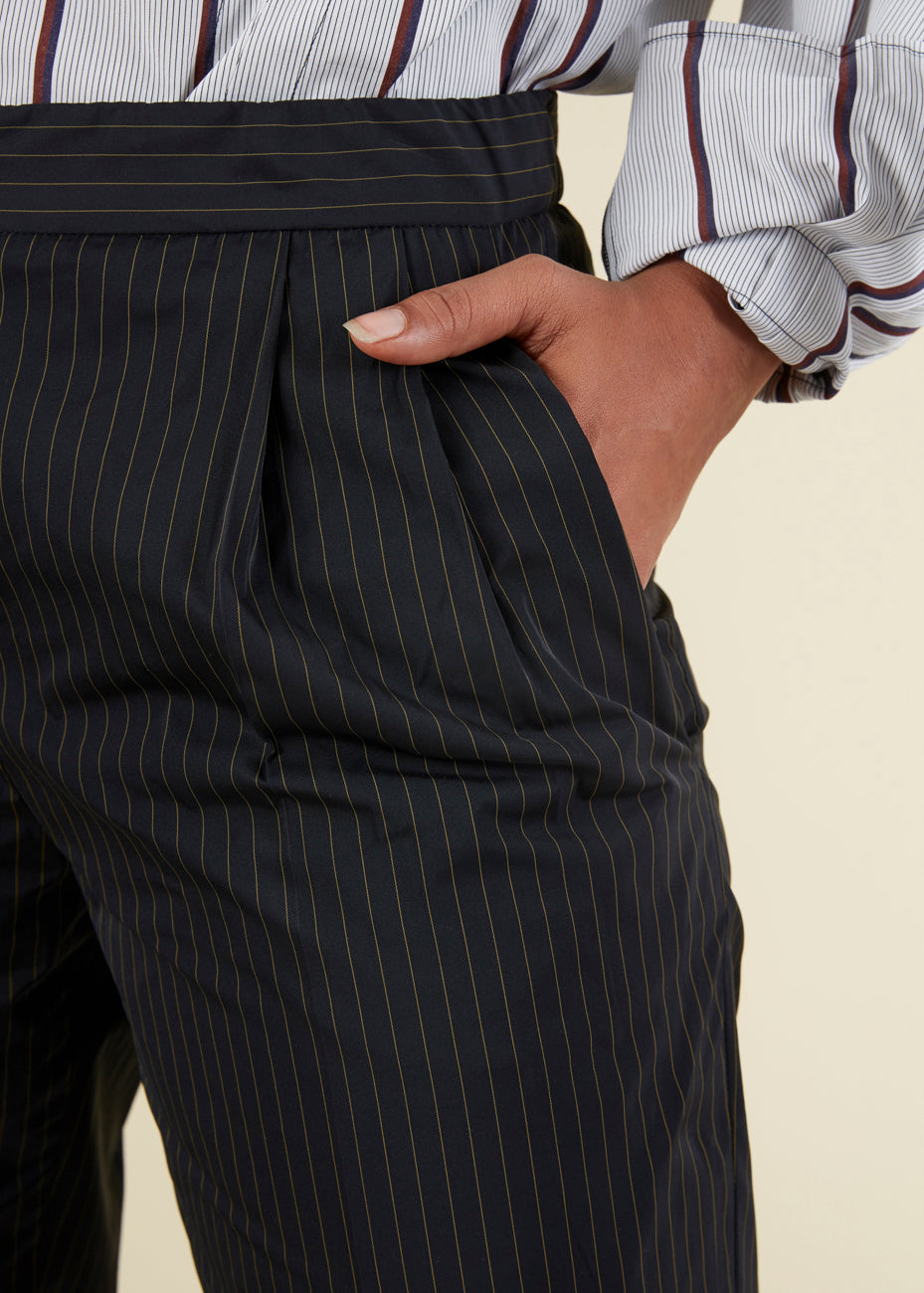 Odeeh Pleated Pinstripe Trouser