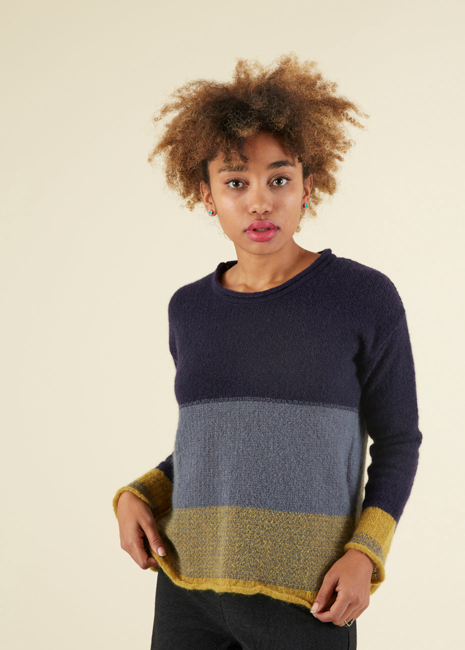Echappees Belles Striped Gringo Pullover Sweater