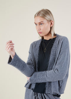 Mixed Yarn Cashmere Cardigan