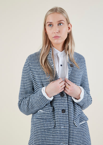 Carine Houndstooth Coat