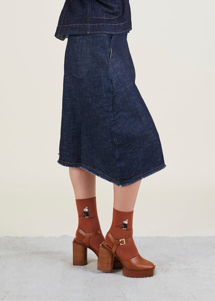Jacqueline Washed Denim Skirt