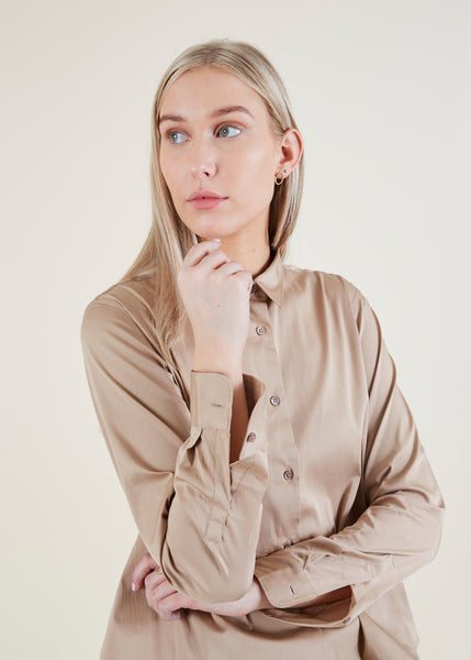 Clark Stretch Satin Shirt