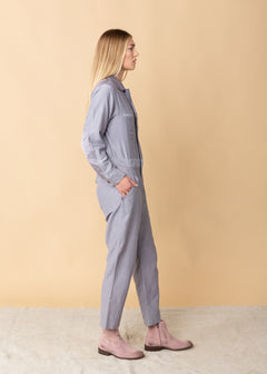 Coverall Zippered Jumpsuit