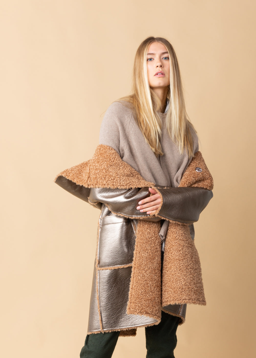 OOFWear Patent Eco-Sheepskin Reversible Coat