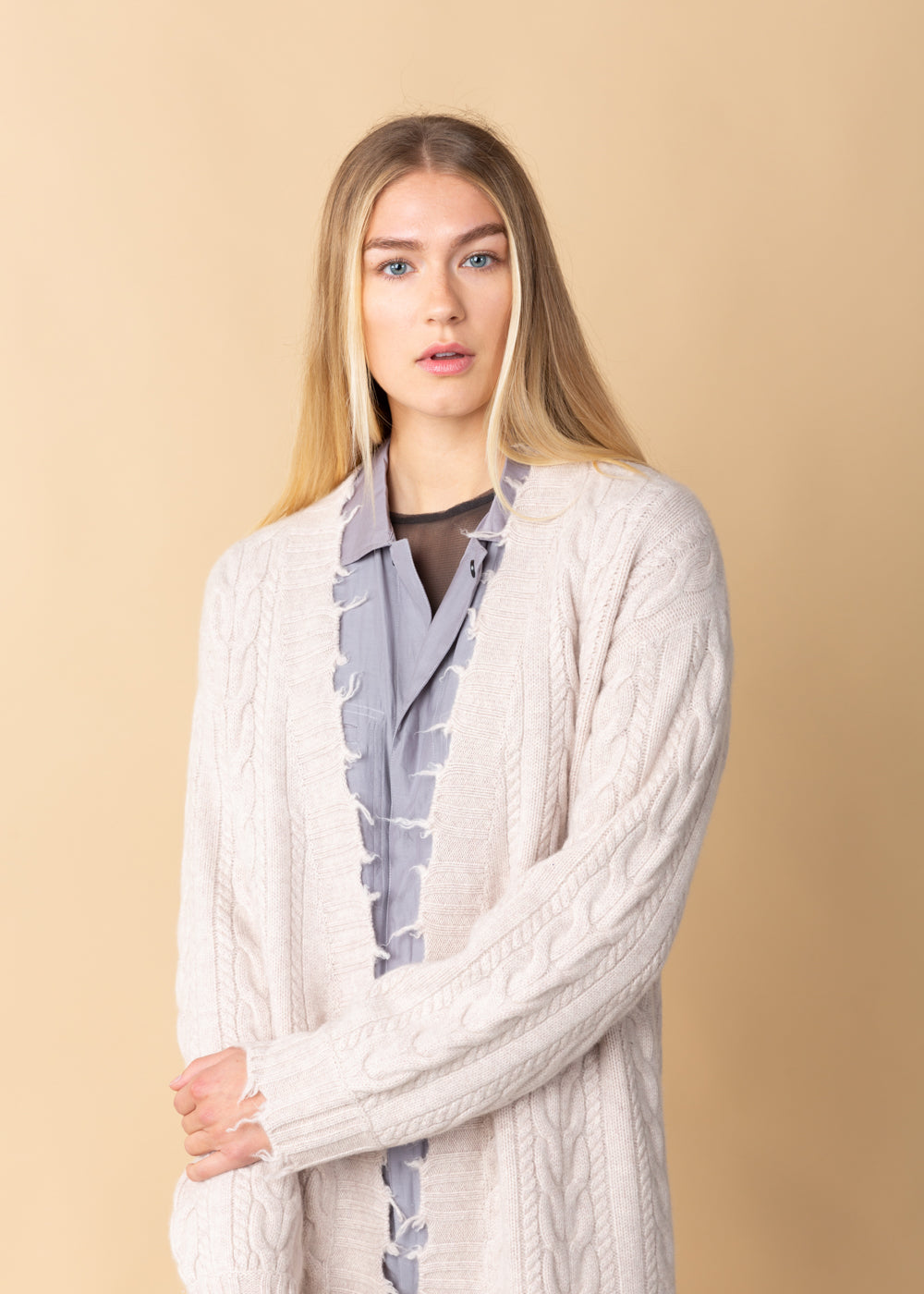 Cable Car Long Cashmere Coat