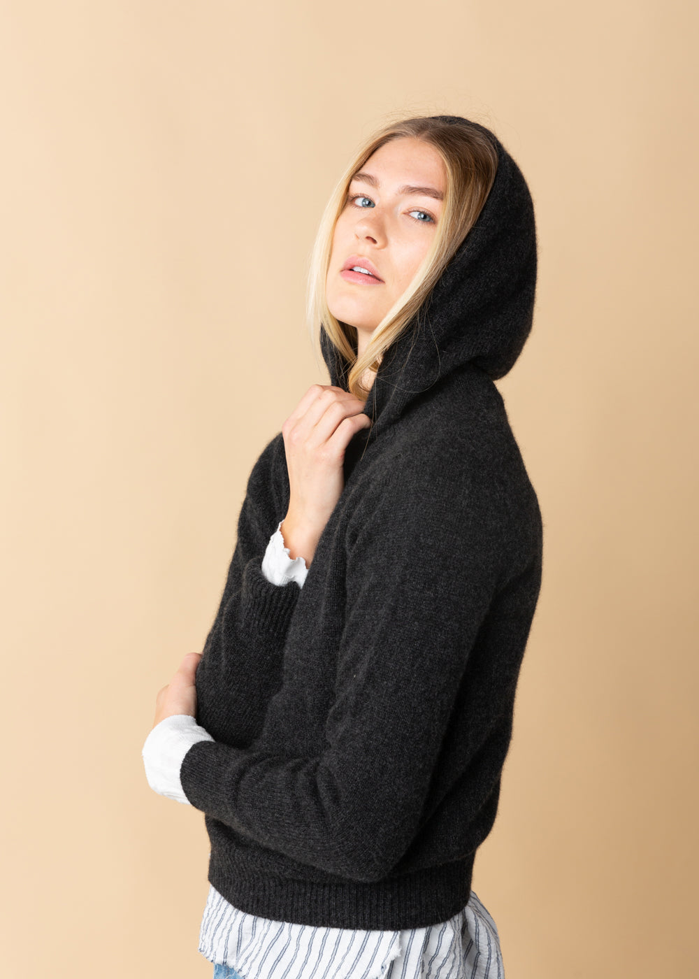 Cashmere Seamless Hoodie