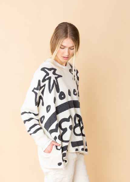 Black and White Pattern Sweater