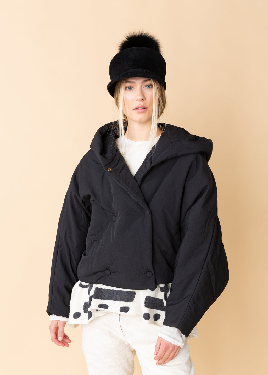 OOFWear Shawl Collar Short Jacket