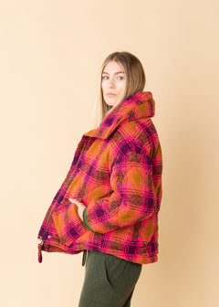 Padded Check Wool Jacket