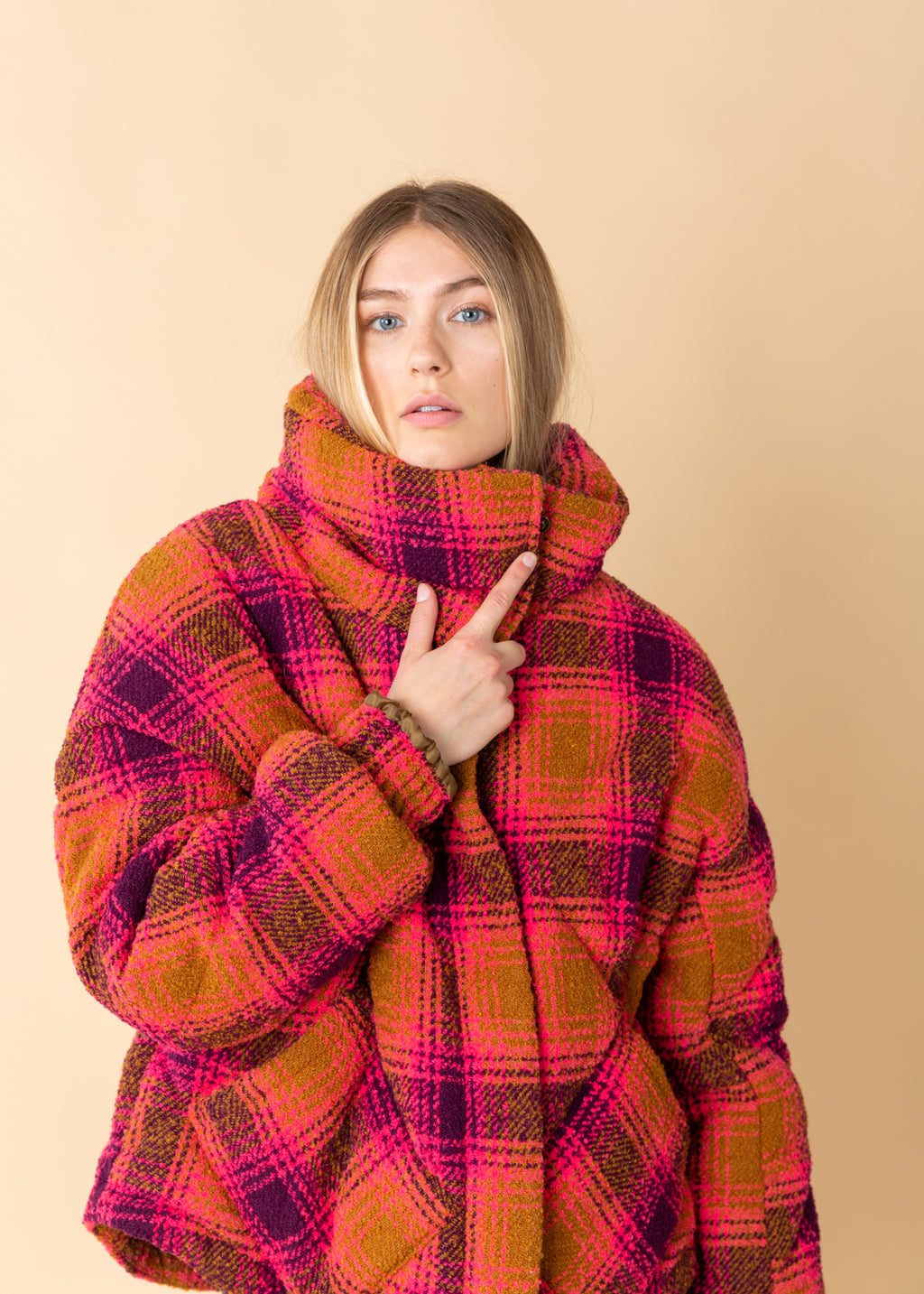 OOFWear Padded Check Wool Jacket