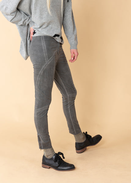 Distressed Stretch Cotton Pant