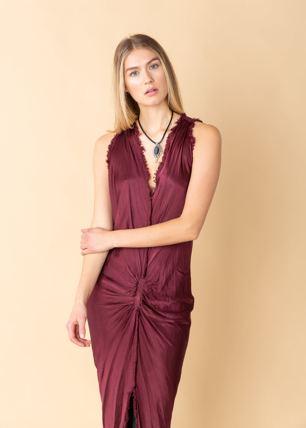 Jaga Residency Sleeveless V-Neck Dress