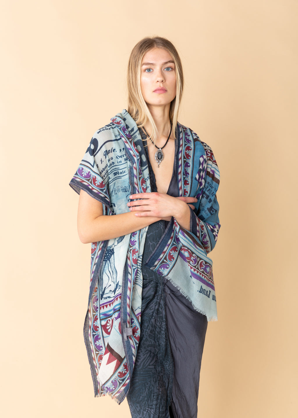 Graphic Blue Stole