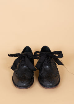 Distressed Ribbon Lace Shoe