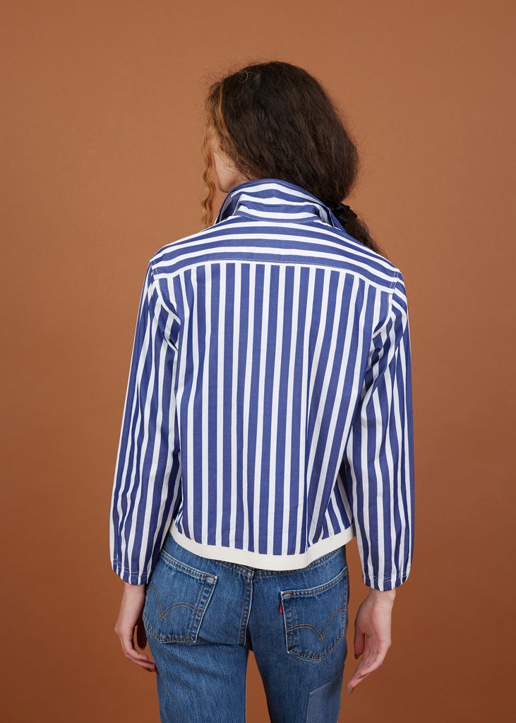 Striped Coach Shirt Jacket