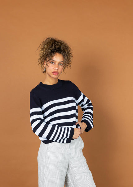 Striped Roundneck Pullover