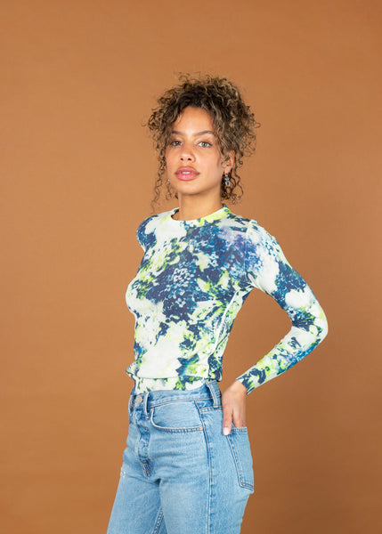 Printed Roundneck Pullover