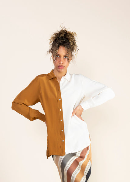Fluid Colourblock Blouse