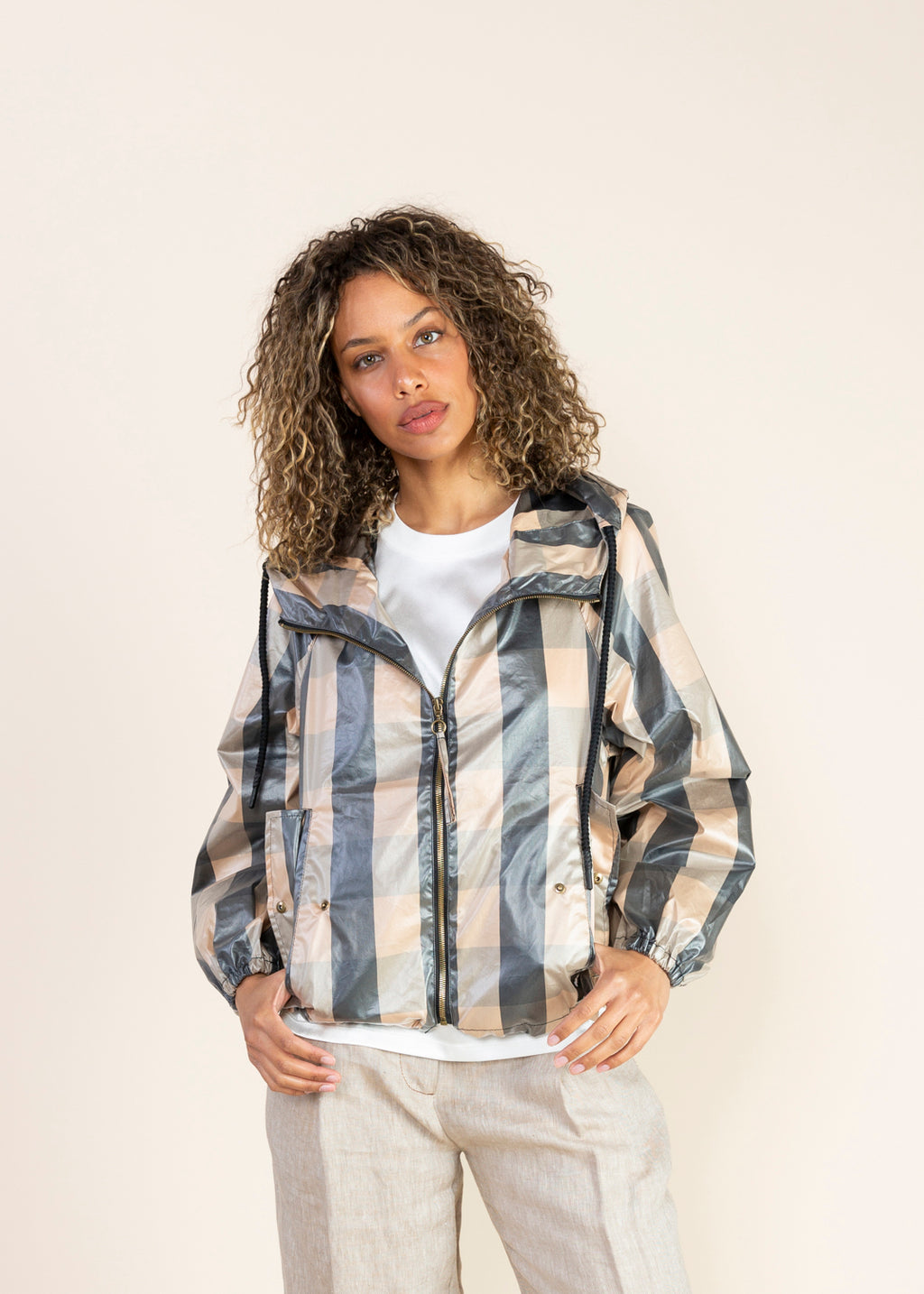 OOFWear Checked Short Rain Jacket