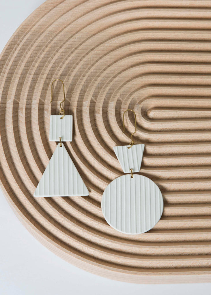Porcelain Geometric Earrings