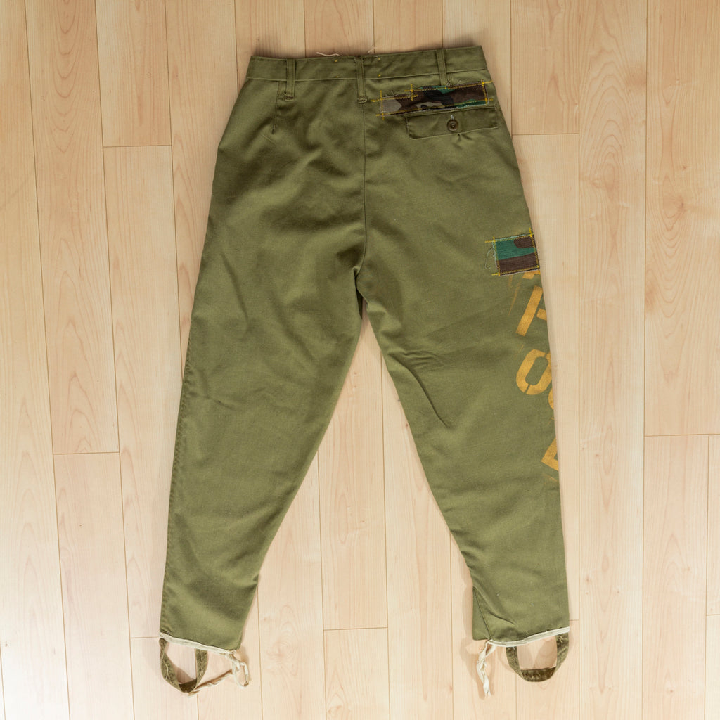 Gold Letter Euro Military Pants