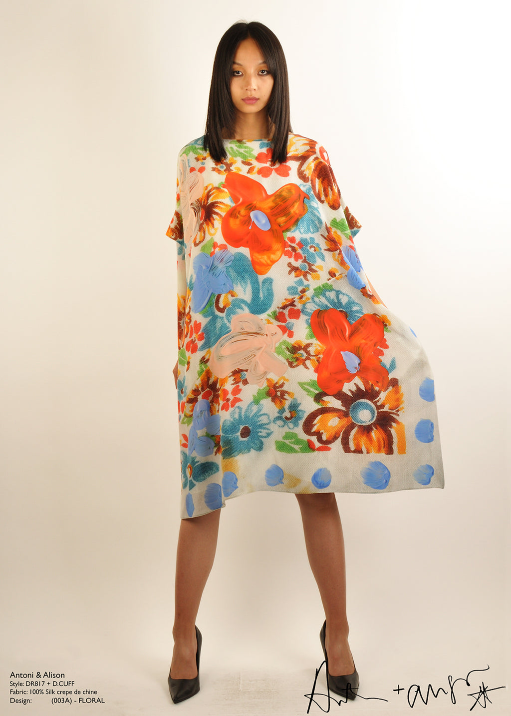 Antoni & Alison Floral Silk Dress