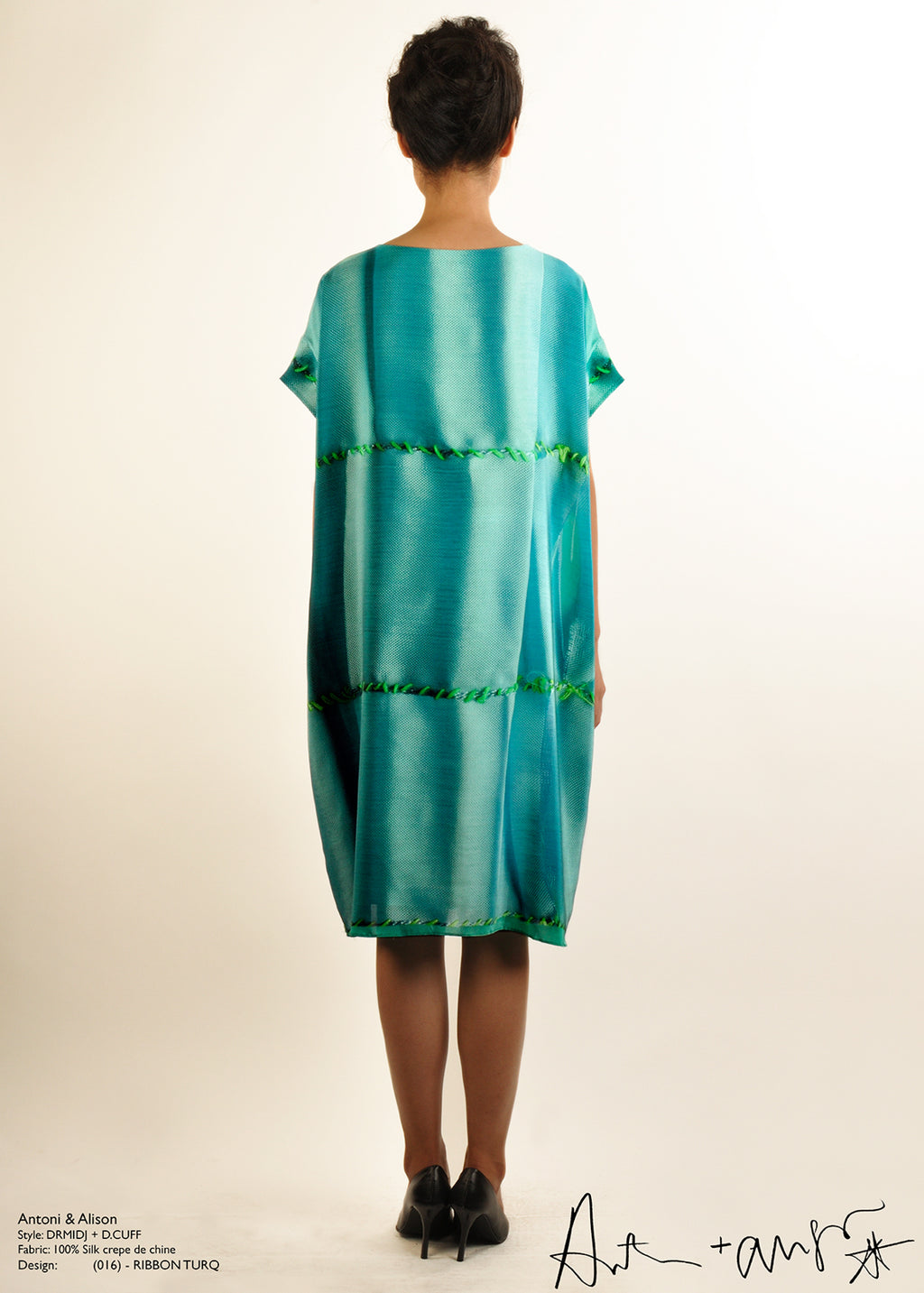 Ribbon Turk Silk Dress