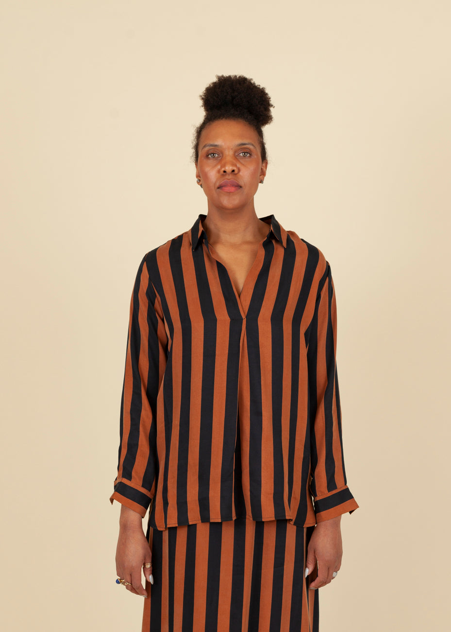 Lyocell Striped Blouse