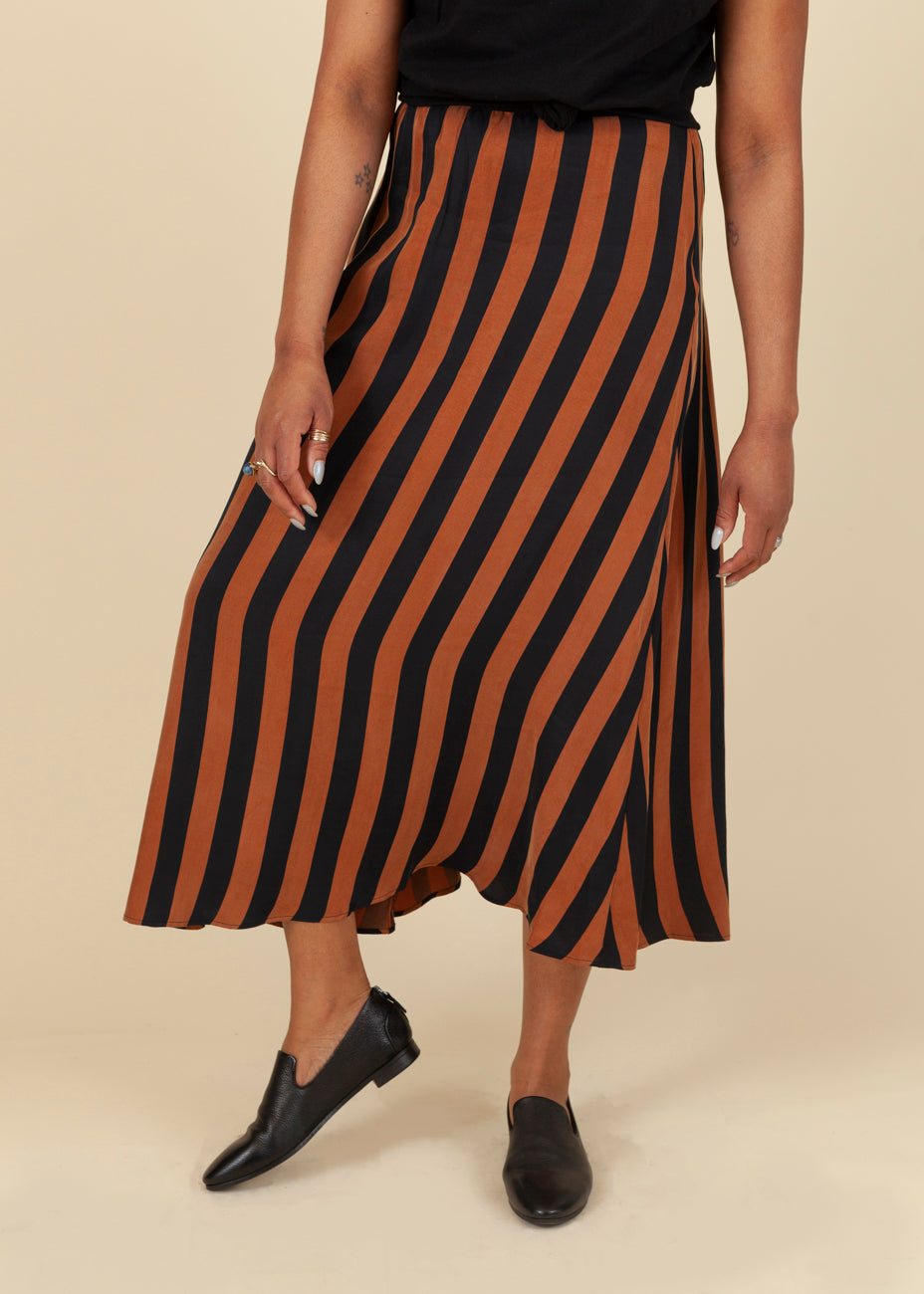 Lyocell Striped Skirt