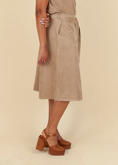 Suedine Stretch Skirt