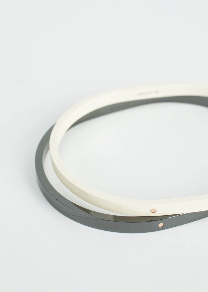 Ivory Ceramic and Rose Gold TV Bangle