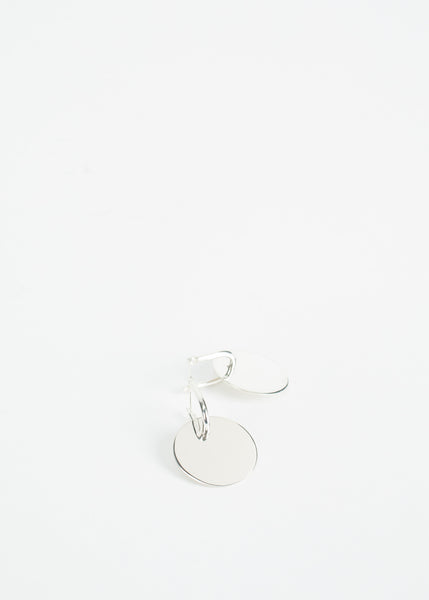 Mini Disk Hoop Earring