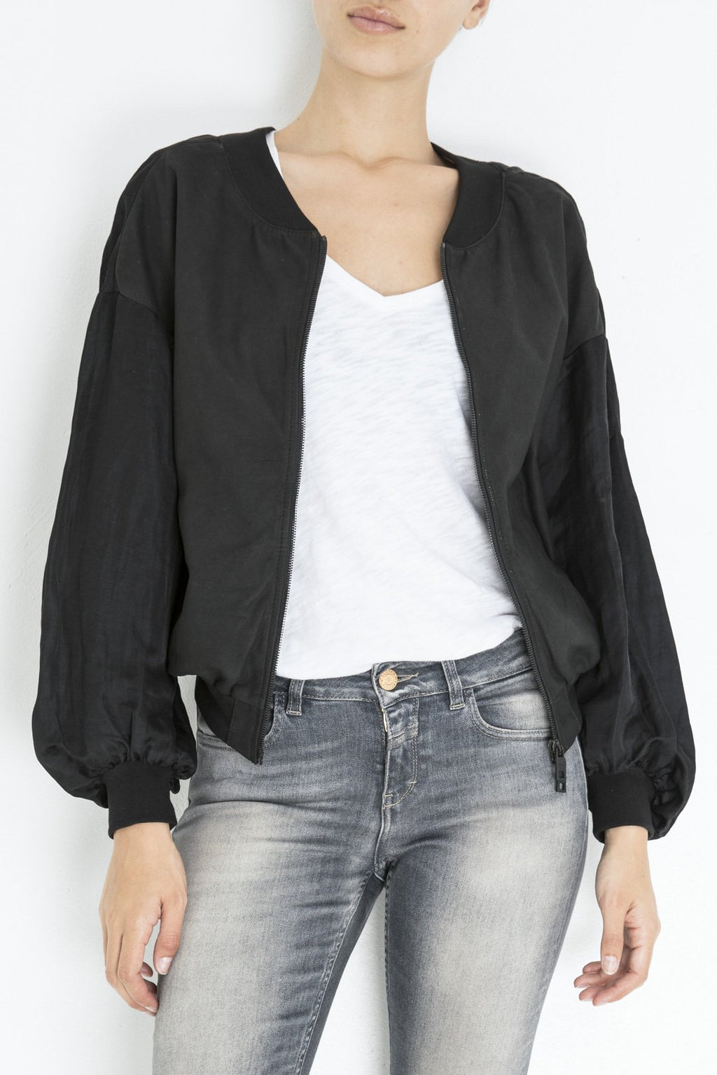 Giorgio Brato leather-satin-bomber