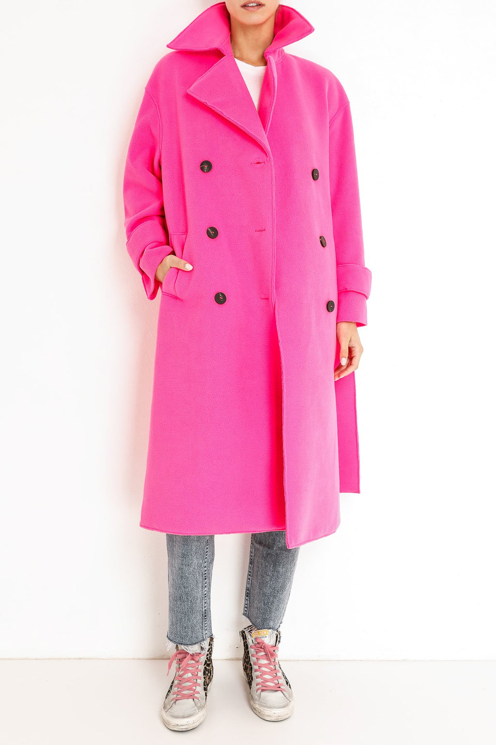 Harris Wharf London oversized-trench-coat-polaire