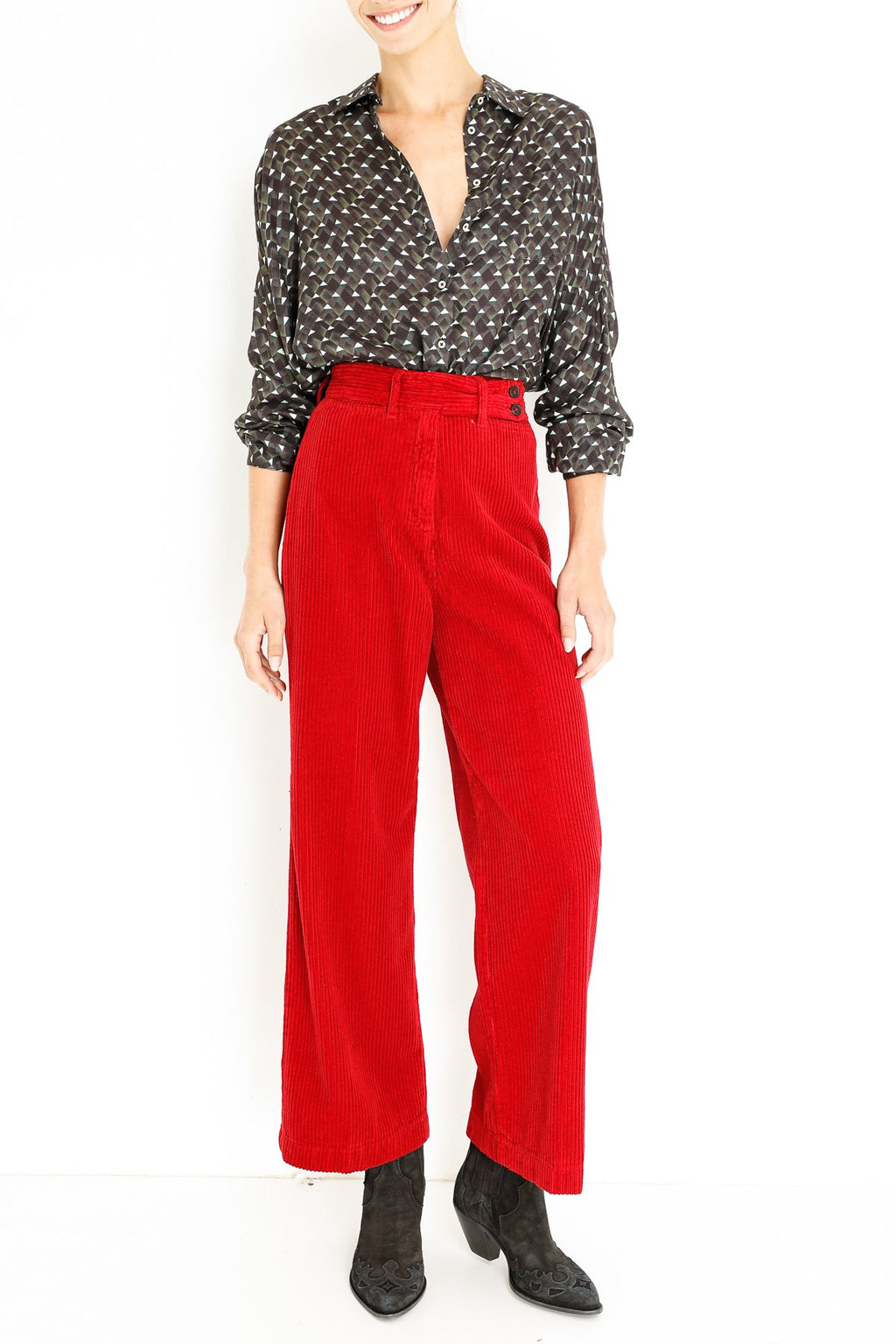 Massimo Alba delta-high-waist-pants